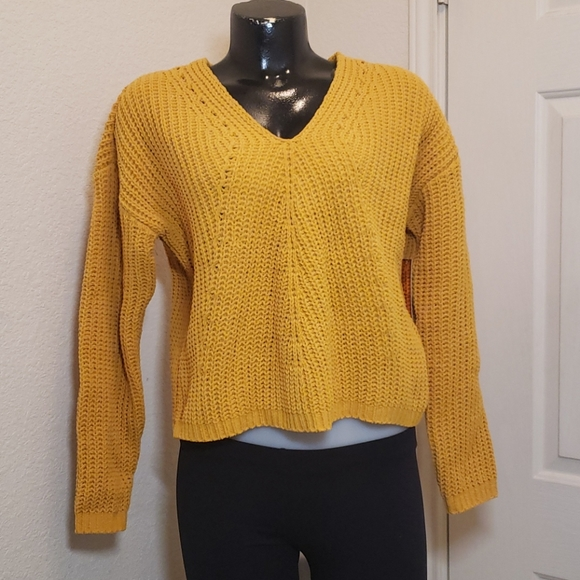 Almost Famous Crochet Crop Sweater